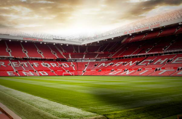 Stadium view at Manchester United Football Club © Manchester United Football