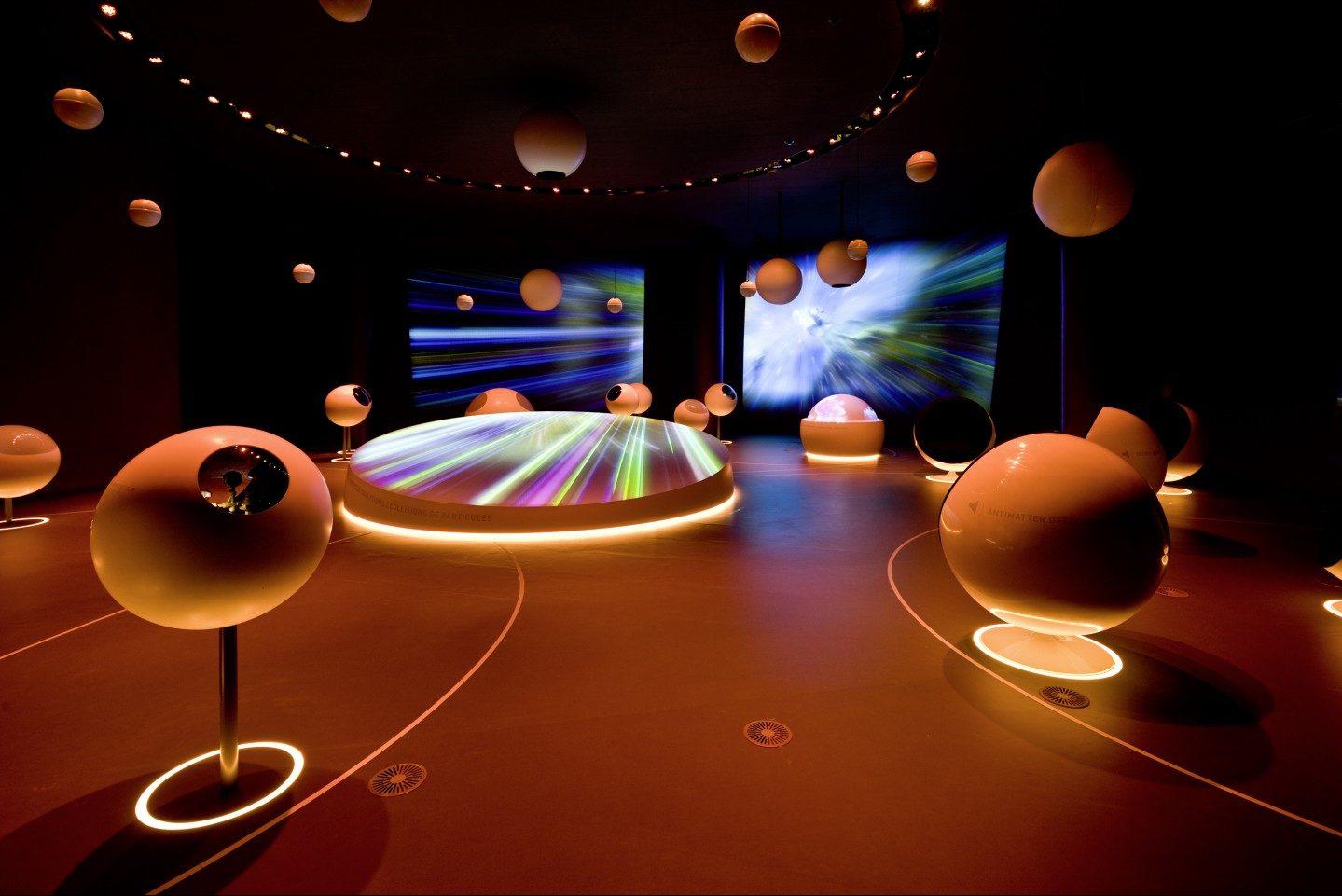 Switzerland, Geneva, CERN, physics,universe of particles permanent exhibition, school group travel, student travel © CERN, Michael Jungblut