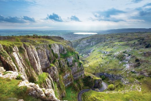 Amazing view of Cheddar Gorge