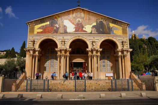 Israel ,Jerusalem, Church of All Nations, Gethsemene, Religion, Student Travel, School Trip © Noam Chen, ThinkIsrael.com