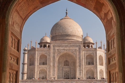The Taj, Mahal in Agra, India - built by the Moghuls